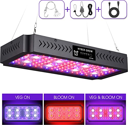 2000W LED Grow Light 2020 New Timer Dual Switch Dual Chips Full Spectrum LED Grow Light Hydroponic Indoor Plants Veg and Flower 2000W