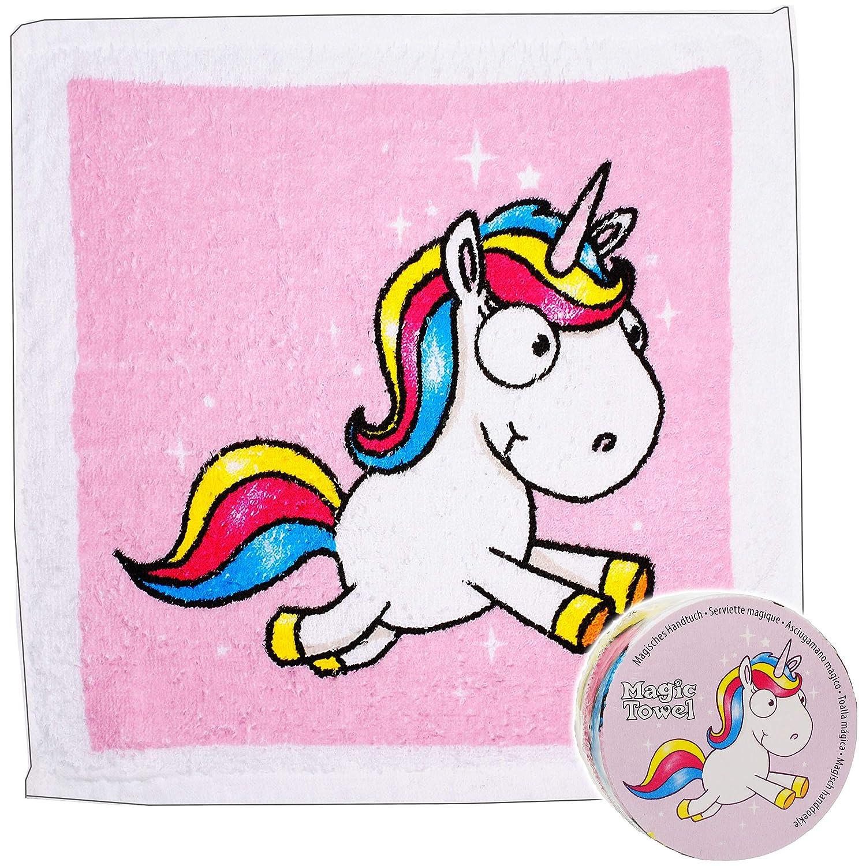 Waschfleck -.. alles-meine.de GmbH magischer Waschlappen // Handtuch Frottee aus 100 /% Baumwolle inkl Einhorn Tiere Name Magic Towel Zauberwaschlappen 30 cm * 30 cm
