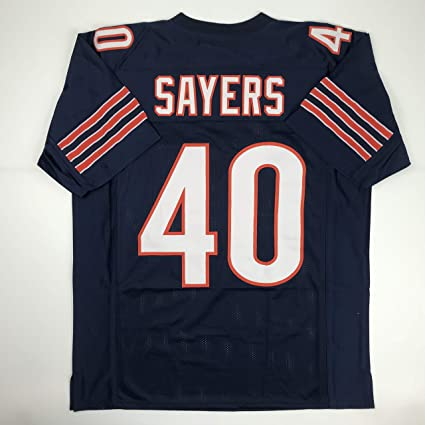 finest selection 32129 57a91 Amazon.com: Unsigned Gale Sayers Chicago Blue Custom ...