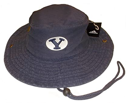 52f615ee61a07 Amazon.com   adidas Brigham Young Cougars Official Team Safari Hat ...