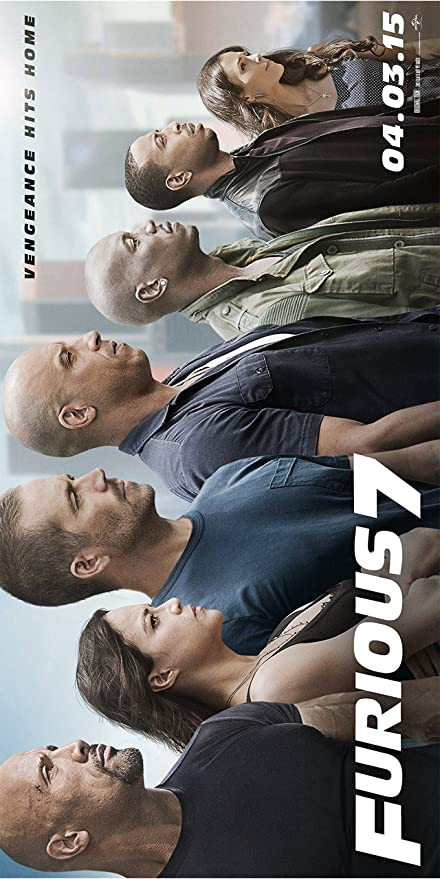 FREE P+P CHOOSE YOUR SIZE Fast and Furious Poster Seven 7 Diesel Large Quality