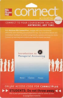 Introduction to managerial accounting peter c brewer professor connect 1 semester access card for introduction to managerial accounting fandeluxe Choice Image
