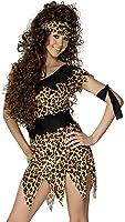 Smiffy's Women's Cavewoman Costume Leopard Print