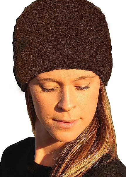 Amazon.com  Men   Women s Alpaca Knit Beanie Hats - Hand Knit in ... cd10fdf3e303