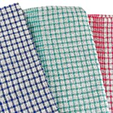 Tea Towels by Royal Care - Premium Pack of 10 (4 red, 3 blue, 3 green) - Heavy Duty (80g) - 50cmx70cm / Kitchen Towel