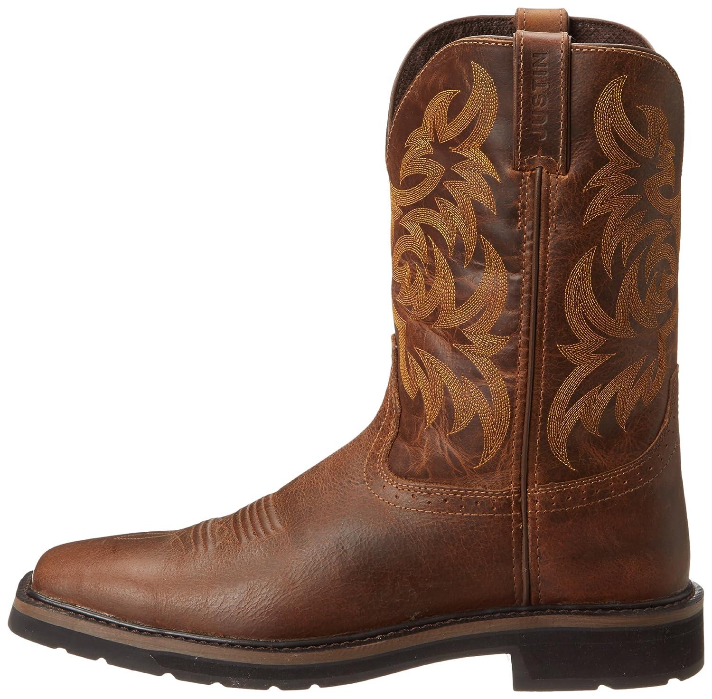 2a98c886383 Amazon.com: Justin Original Work Boots Men's Stampede Work Boot: Shoes