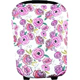 """Baby Car Seat Cover Canopy and Nursing Cover Multi-Use Stretchy 5 in 1 Gift """"Zoe"""" by Copper Pearl"""