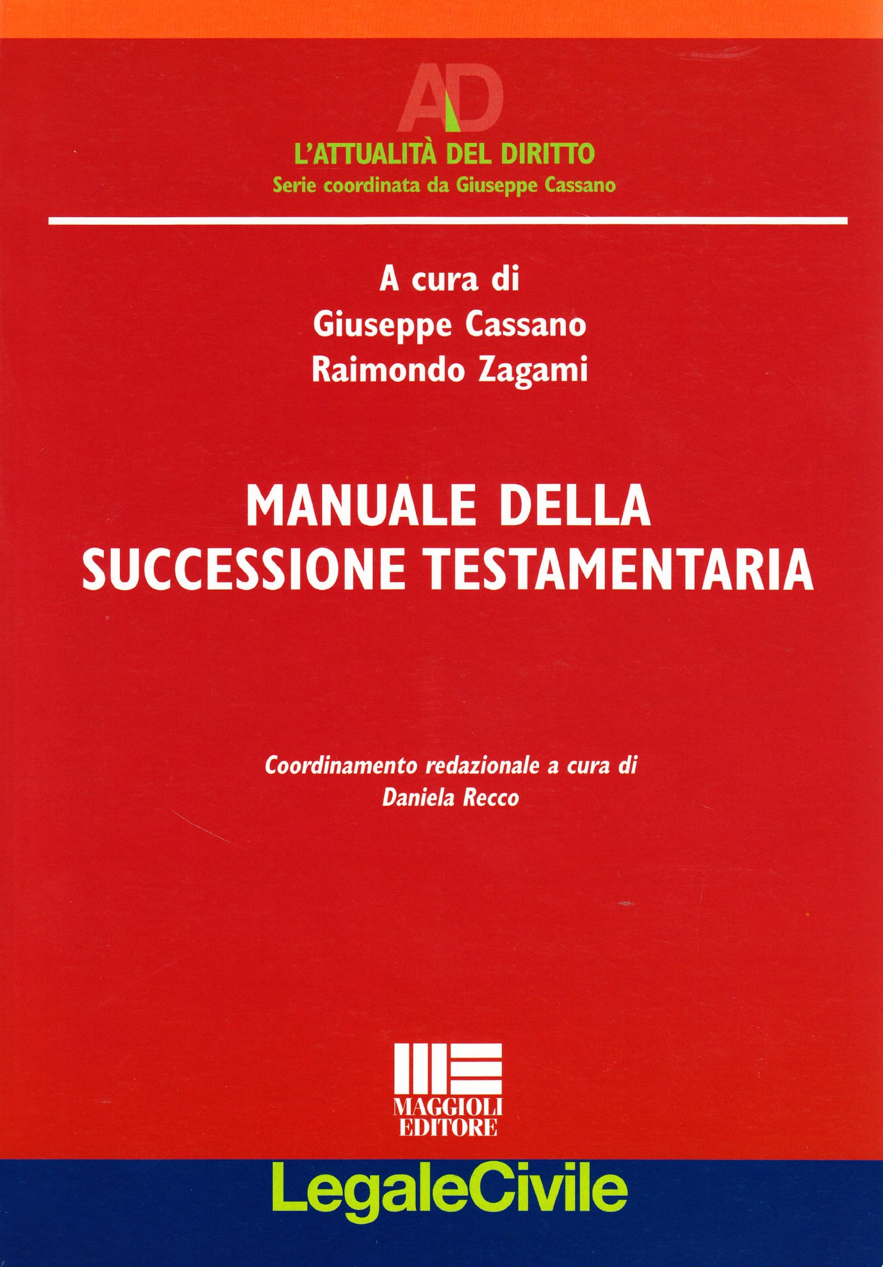 Amazon.it: Manuale Della Successione Testamentaria   G. Cassano, R. Zagami    Libri