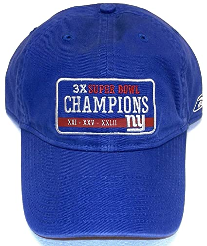 f5dc7cac119 Image Unavailable. Image not available for. Color  Reebok New York Giants  3X Champions Slouch Strap Hat - OSFA ...