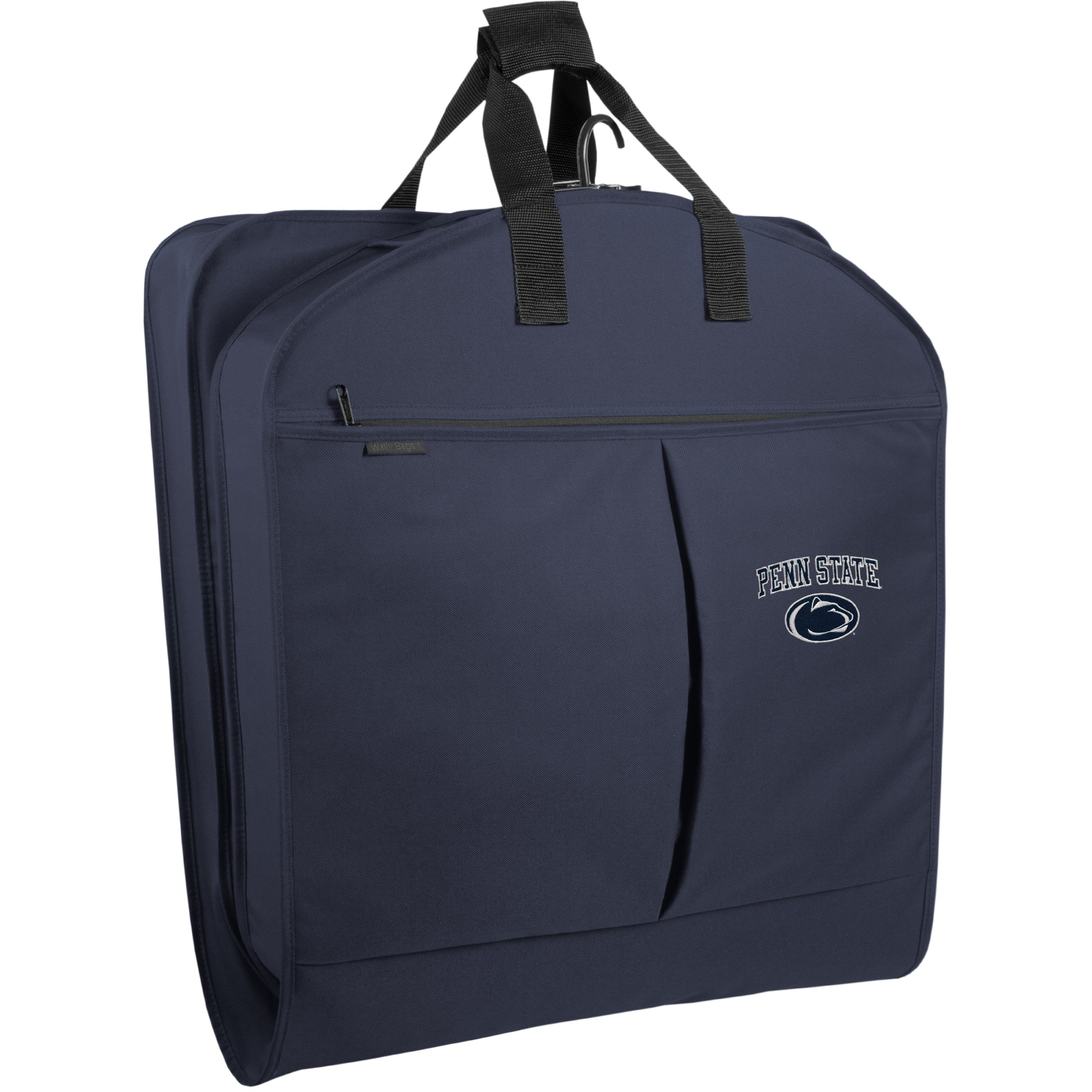 WallyBags Penn State Nittany Lions 40 Inch Suit Length Garment Bag with Pockets, Navy, One Size