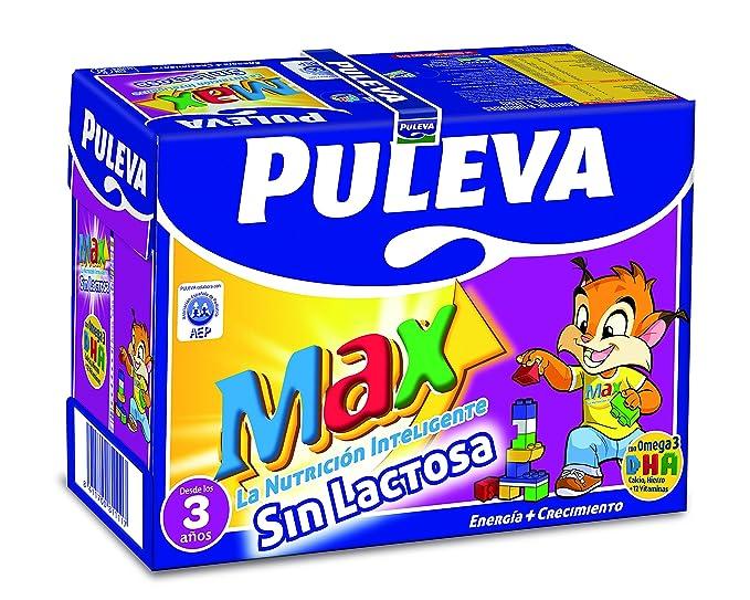 Puleva Leche Max Energía y Crecimiento sin Lactosa - Pack 6 x 1 L - Total