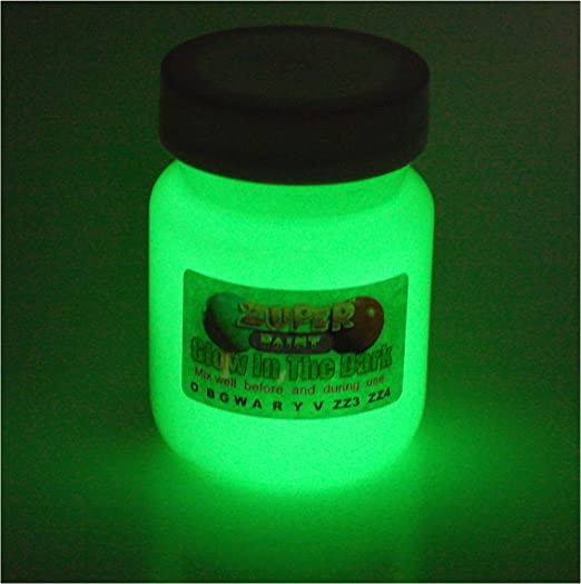 Pintura acrílica que brilla en la oscuridad, 30 ml. Elige un color., Verde, 30ml (1 fl oz)