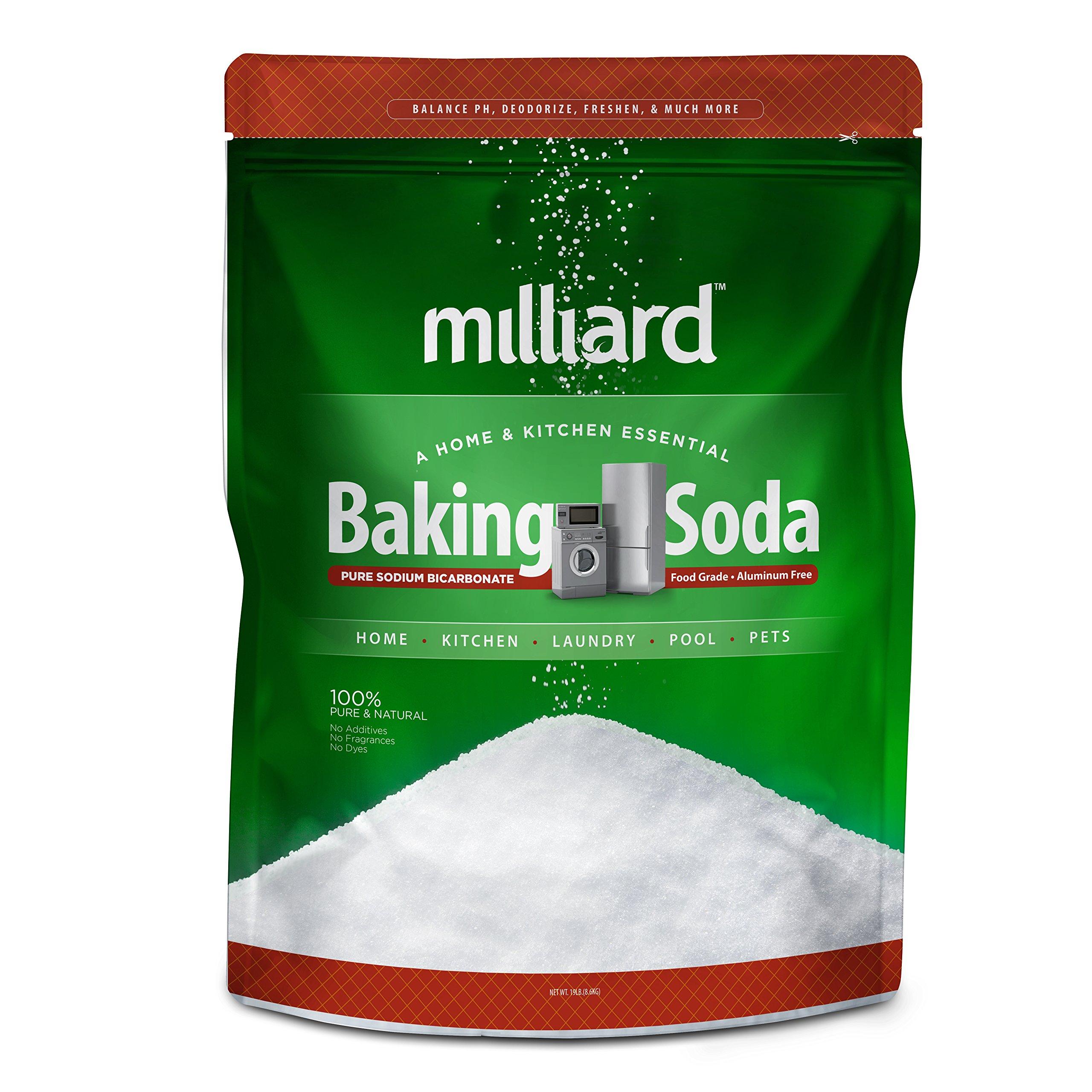 Milliard 19lbs Baking Soda / Sodium Bicarbonate USP - 19 Pound Bulk Resealable Bag