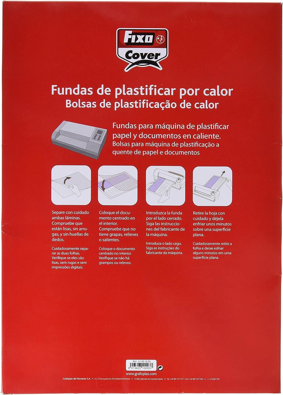 Fixo 1021700 - Pack de 100 fundas para plastificar, transparente ...