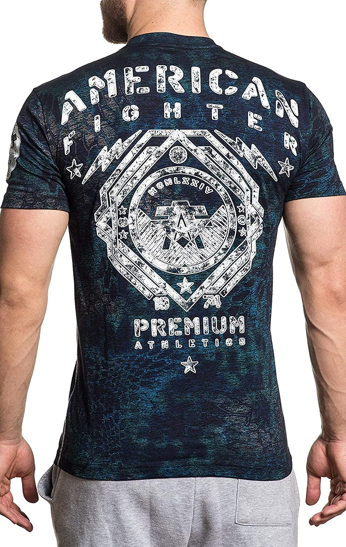 American Fighter Mens Calmar Tee Shirt Black Kryptek