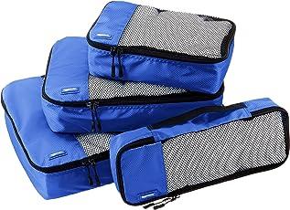 AmazonBasics Juego de 4 cubos organizadores de equipaje (pequeño, mediano, largo y fino)