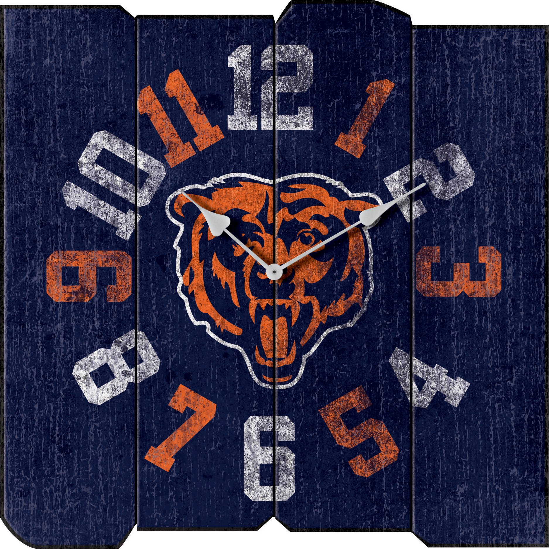 Imperial Officially Licensed NFL Merchandise: Vintage Square Clock, Chicago Bears by Imperial