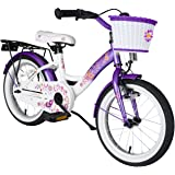 BIKESTAR® Premium Kids Bike ★ For safe and carefree joy of playing kids aged from 4 years ★ 16s Classic Edition ★ Candy Purple & Diamond White