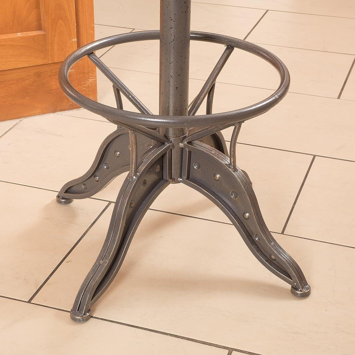 Drew Industrial Metal Design Adjustable Height Swivel Tractor Seat Barstool