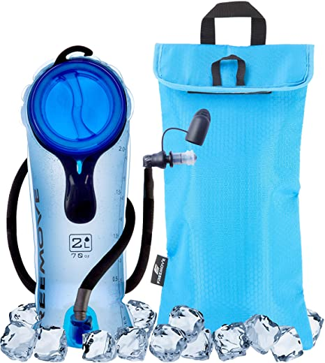 98de62968b 2L or 3 Liter Hydration Bladder & Cooler Bag KEEPS DRINK COOL & PROTECTS  YOUR BLADDER | Durable Leak Proof Water Reservoir | Large Opening |  Tasteless TPU ...