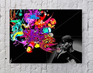 LLp Kid Cudi Poster Standard Size | 18-Inches by 24-Inches | Kid Cudi Wall Poster Print