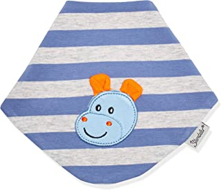 KraftKids Dreieckstuch in wei/ße Punkte auf Rosa Dreiecksschal f/ür 34 cm Halsumfang Kinder Halstuch mit Fleece Innenfutter