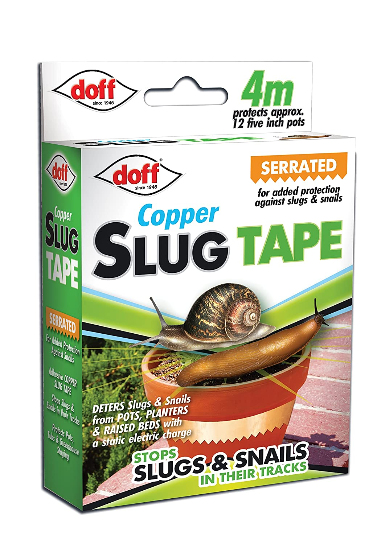 DOFF DOFAM004DS 4M Slug and Snail Adhesive Copper Tape - Multi-Colour 92185