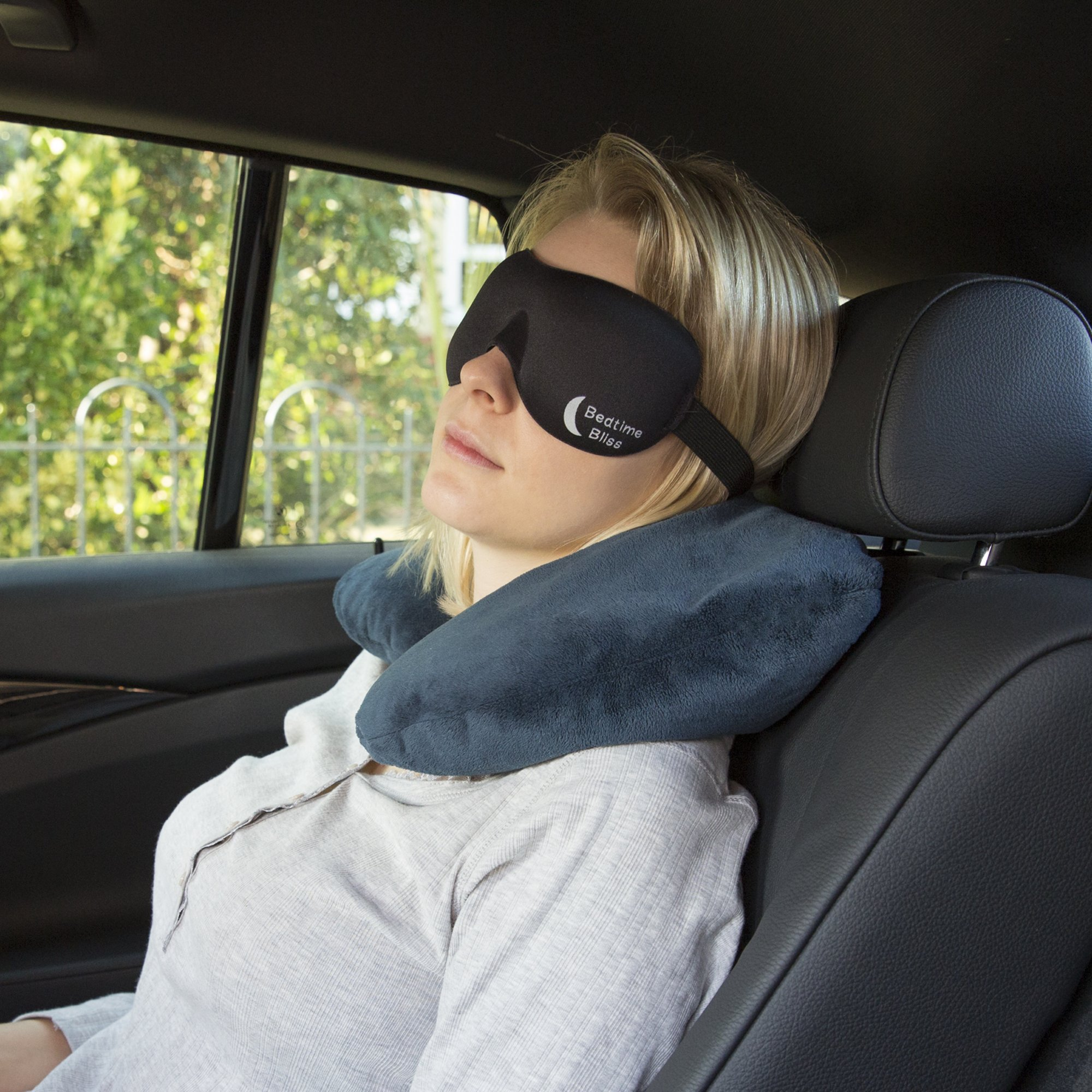 Sleep Mask by Bedtime Bliss® - Contoured & Comfortable With Moldex® Ear Plug Set. Includes Carry Pouch for Eye Mask and Ear Plugs - Great for Travel, Shift Work & Meditation (Black) by Bedtime Bliss (Image #7)