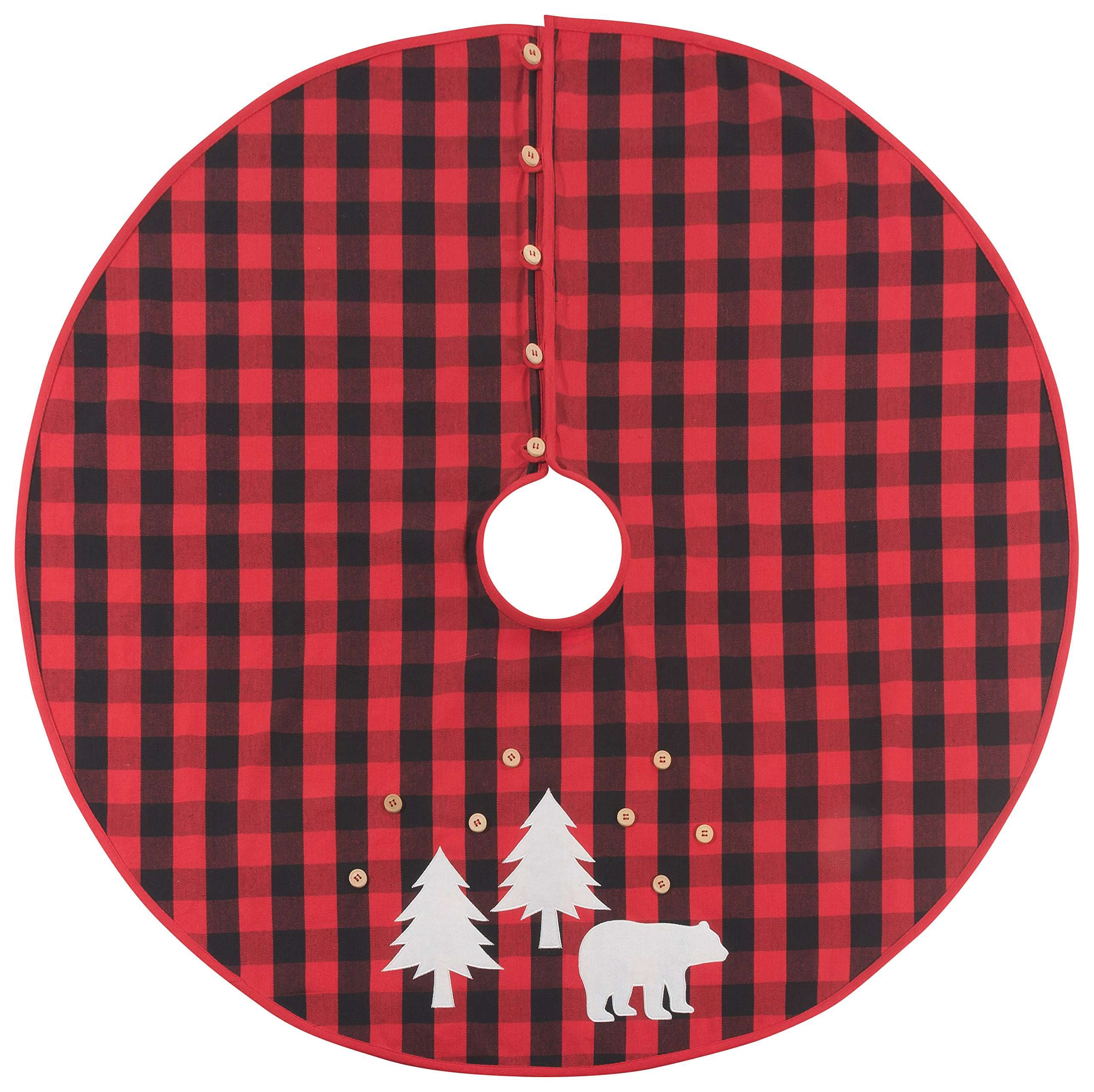 Now Designs 3016001 Buffalo Check Bear, Tree Skirt