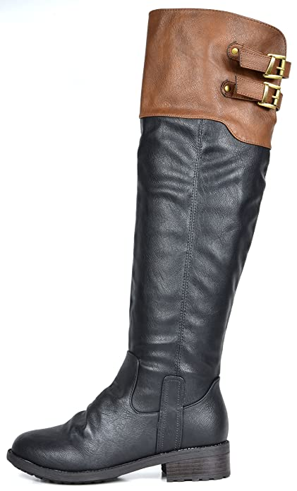 b9f7bd335aa8 Amazon.com | DREAM PAIRS Women's Knee High and up Riding Boots | Knee-High