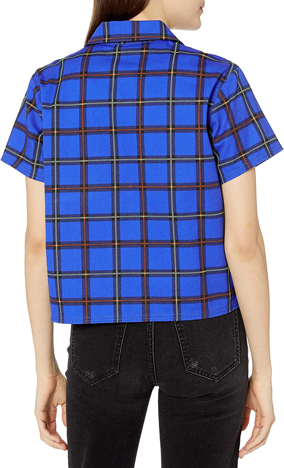 Obey Women's Short Sleeve Cropped Work Shit Cobalt Multi