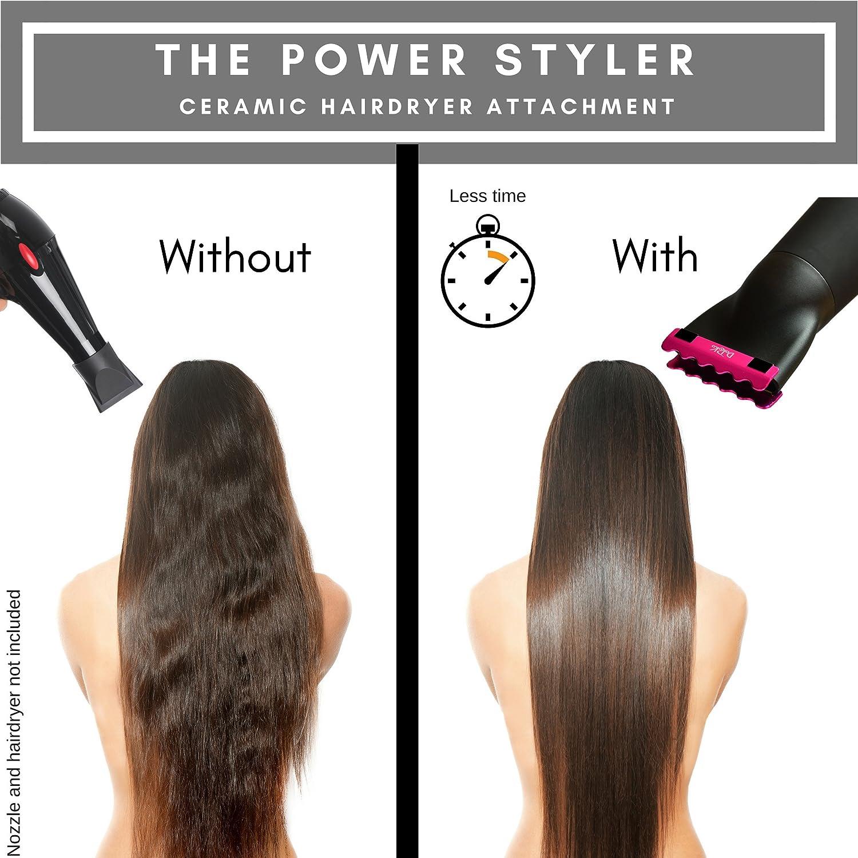 ... el secador del soplo, crear liso brillante Ahorre tiempo obtener los resultados de la enderezadora del pelo o hierro desde