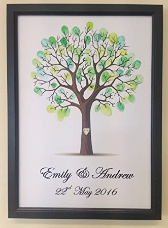 Personalised Wedding Tree Guest Book Alternative Wishing Tree - with ...