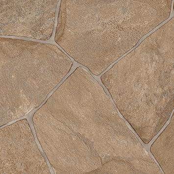 Gr/ö/ße: 1,5 x 2 m Meterware 300 und 400 cm Breite PVC Bodenbelag Steinoptik verschiedene Gr/ö/ßen 200 Fliesenoptik beige