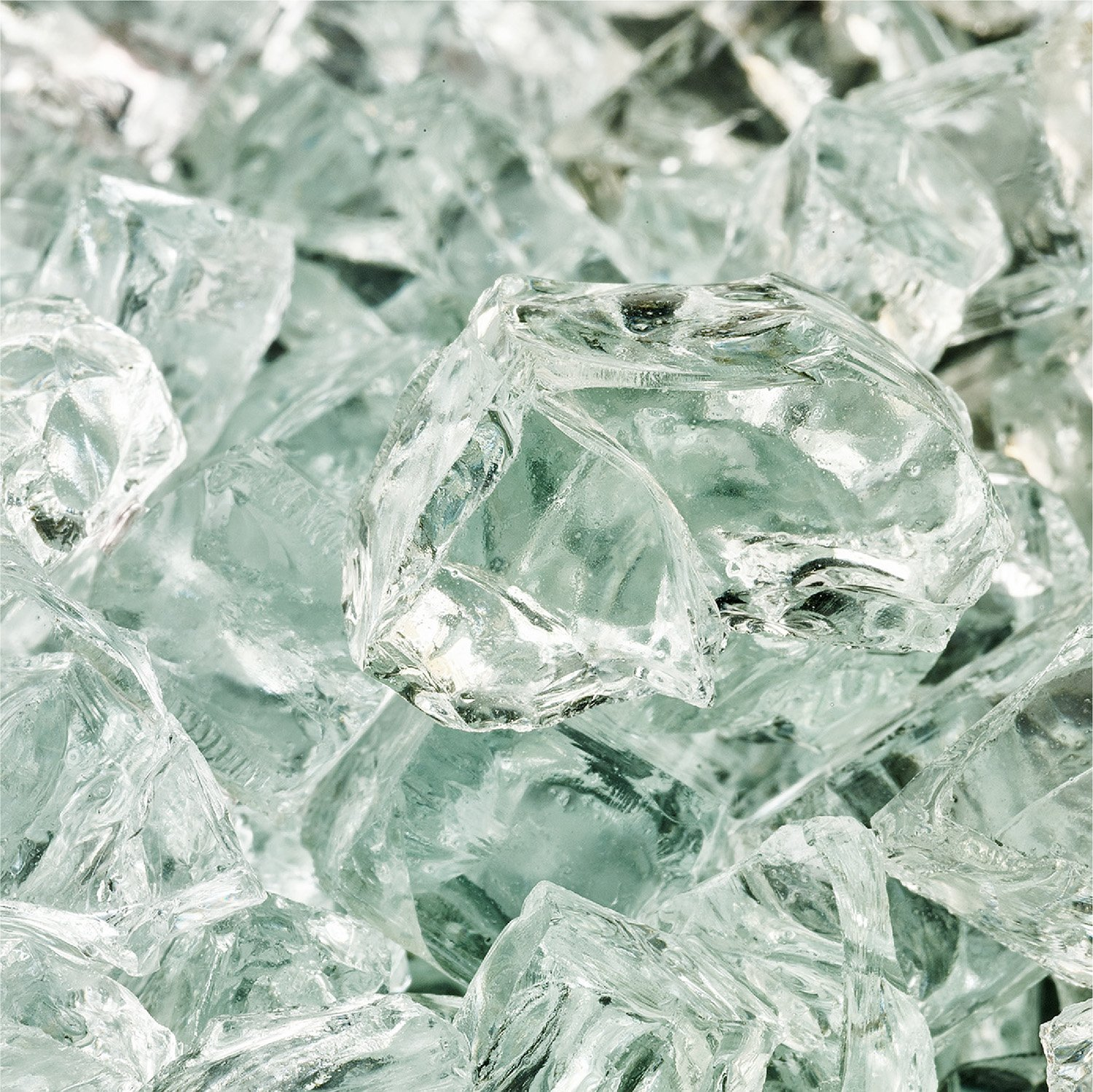 Clear Fire Glass for Indoor and Outdoor Fire Pits or Fireplaces | 10 Pounds | Arctic Ice, Fire Glass Cubes, 1 Inch Fire Pit Essentials