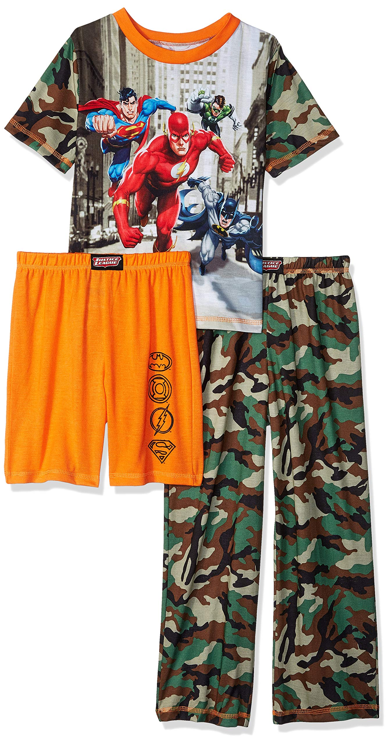 DC Comics Boys' Big 3 Piece Jersey Pajama Set