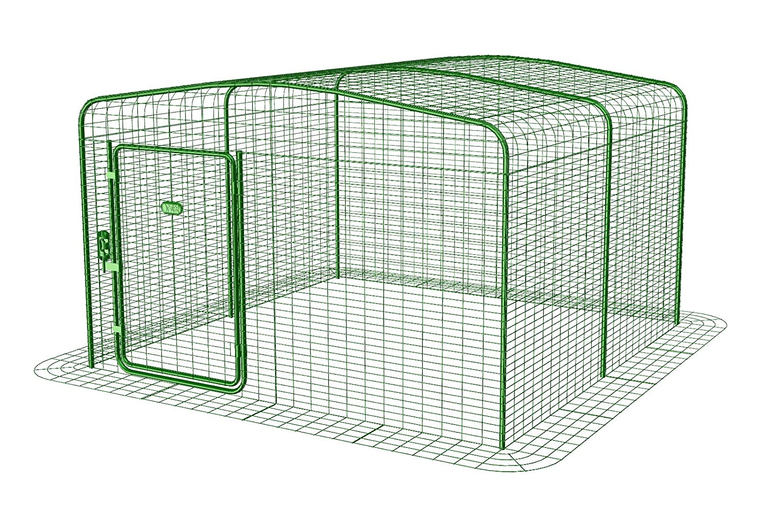 Omlet Walk in Chicken/Poultry Run - Fully Enclosed, Secure Steel Mesh - Green - 1.8m x 1.8m x 1.15m