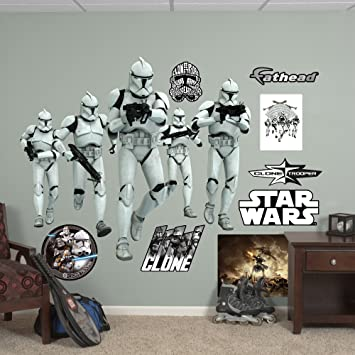 Fathead star wars clone trooper group vinyl decals