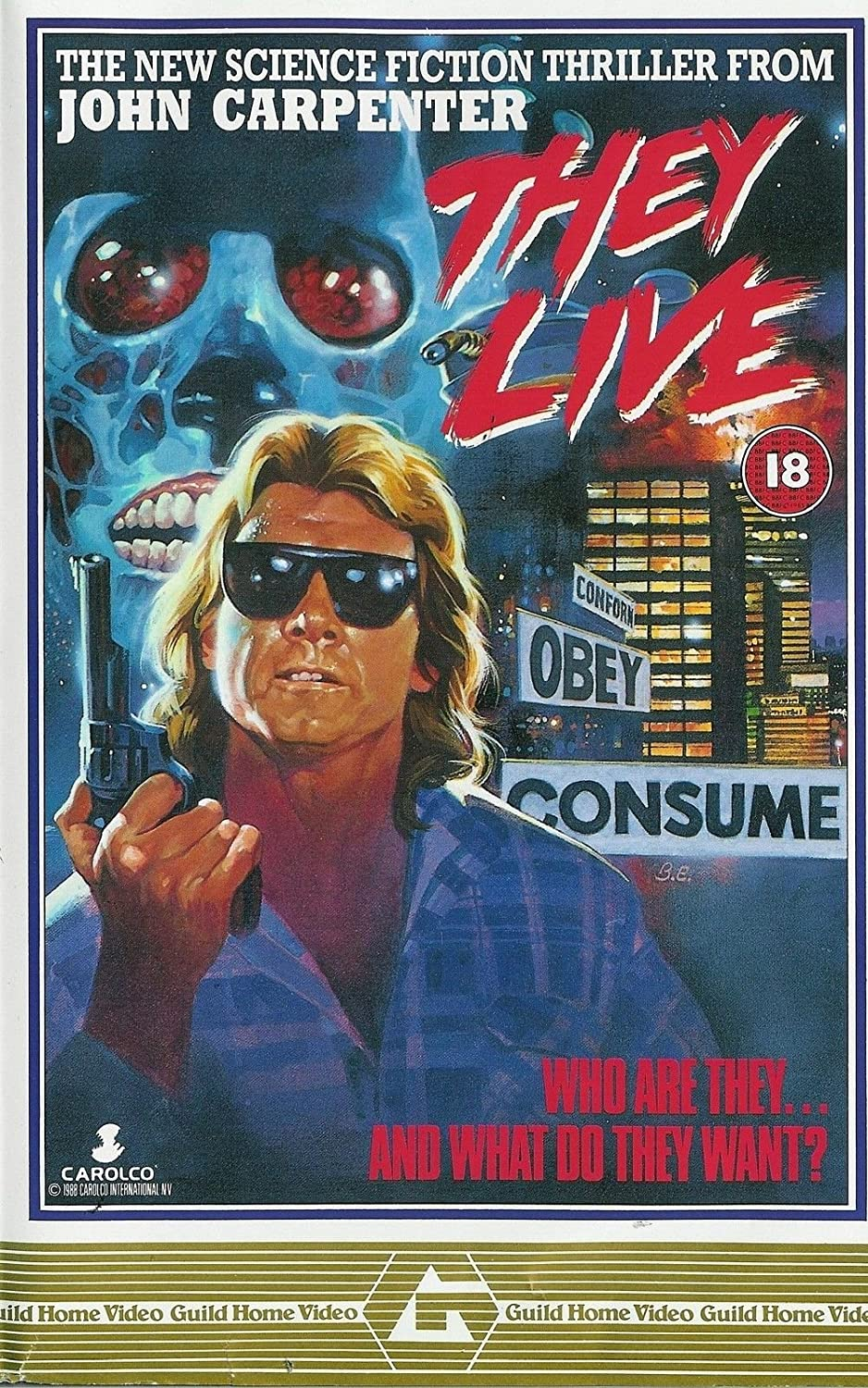 """They Live (1988) Movie Poster 24""""x36"""" Rowdy Roddy Piper"""