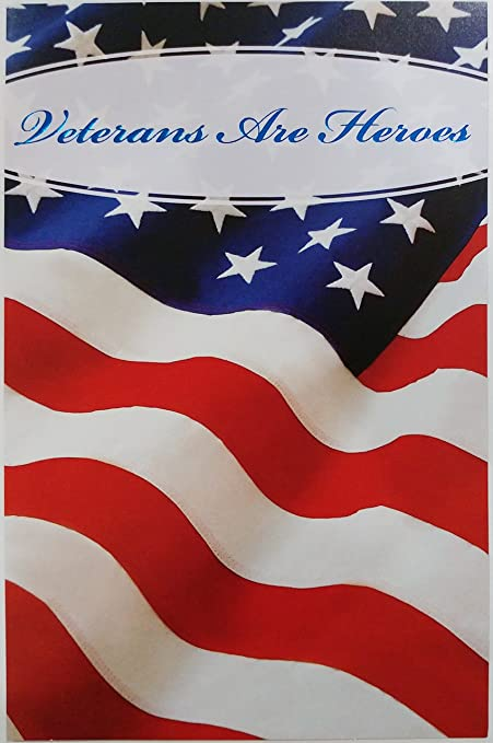 Amazon veterans are heroes happy veterans day greeting card veterans are heroes happy veterans day greeting card w american flag quotheroes m4hsunfo