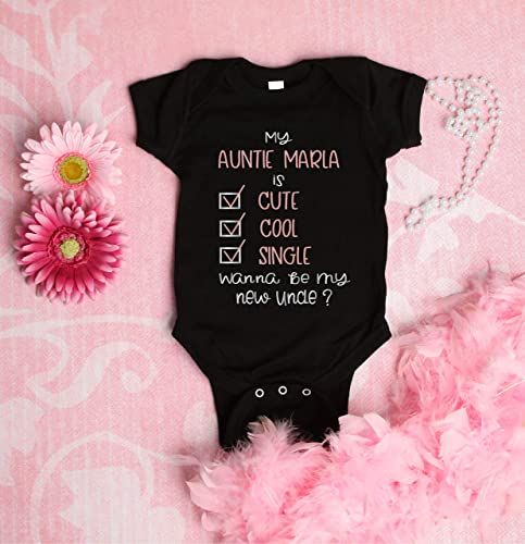 Custom Toddler T-Shirt My Aunt is Single Ask Parents for The Details Baby Cotton