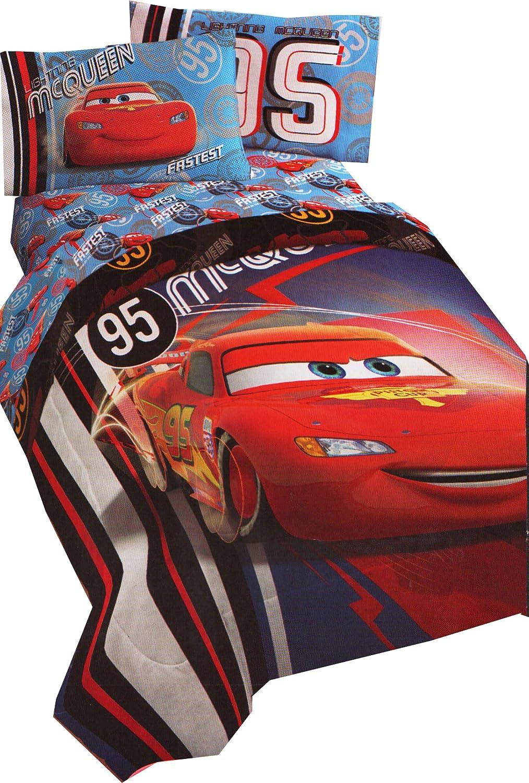 Amazon.com Disney Lighting McQueen Twin-Full Bed Comforter Race Car Number 95 Bedding Home u0026 Kitchen  sc 1 st  Amazon.com & Amazon.com: Disney Lighting McQueen Twin-Full Bed Comforter Race ... azcodes.com
