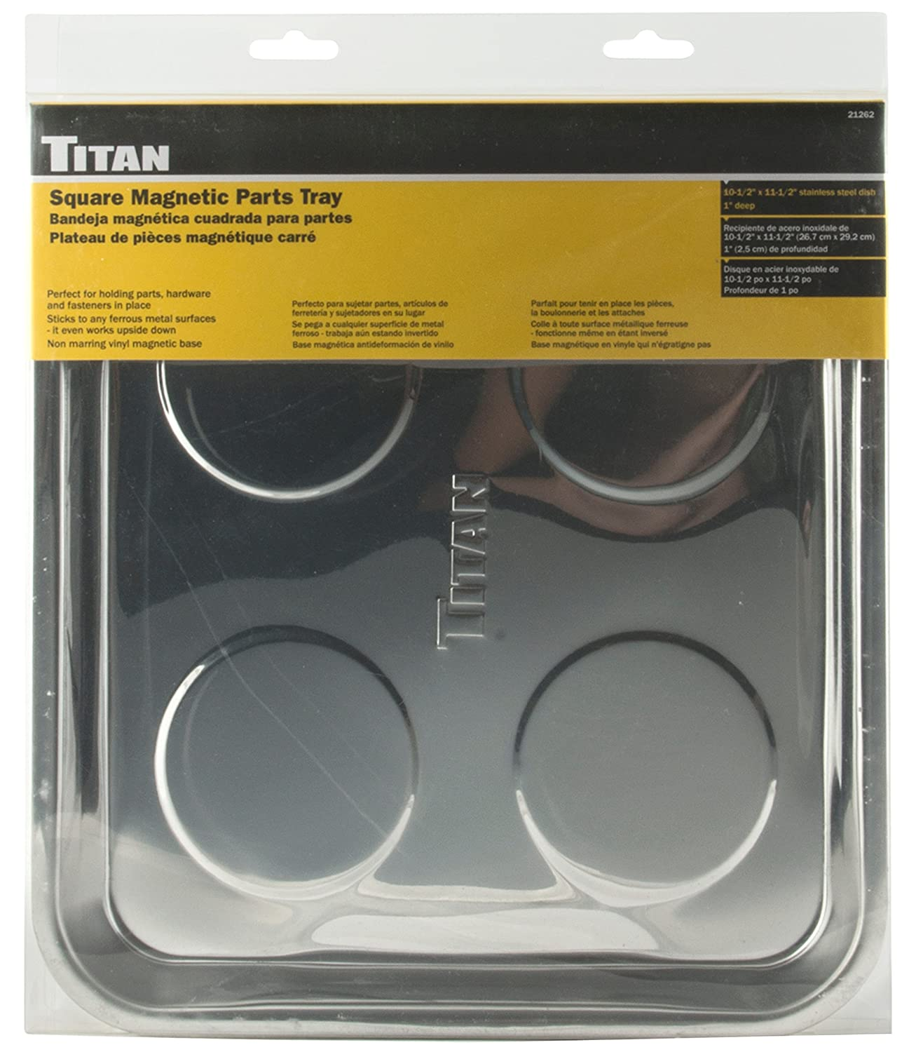 Amazon.com: Titan Tools 21262 Magnetic Parts Tray (10.5