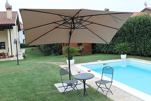 Sombrilla Mercurio, 2 x 3 palos laterales de aluminio orientables, de exterior, para jardín: Amazon.es: Jardín