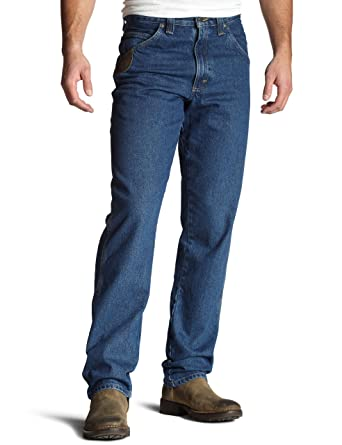 a88950190a9c2 Wrangler RIGGS WORKWEAR Men's Relaxed-Fit Jean at Amazon Men's Clothing  store: