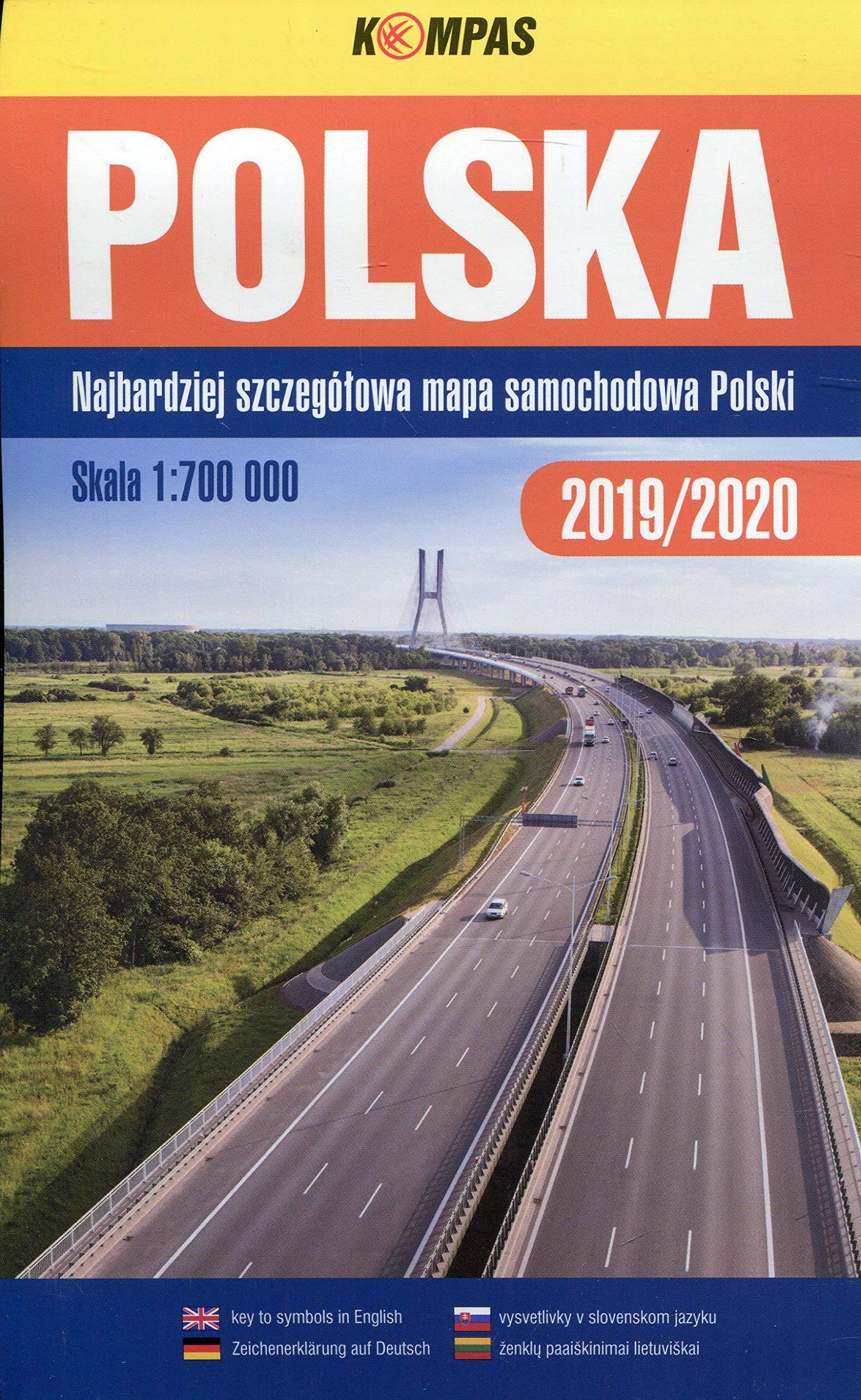 Polska Mapa Samochodowa 2019 2020 1 700 000 Unknown