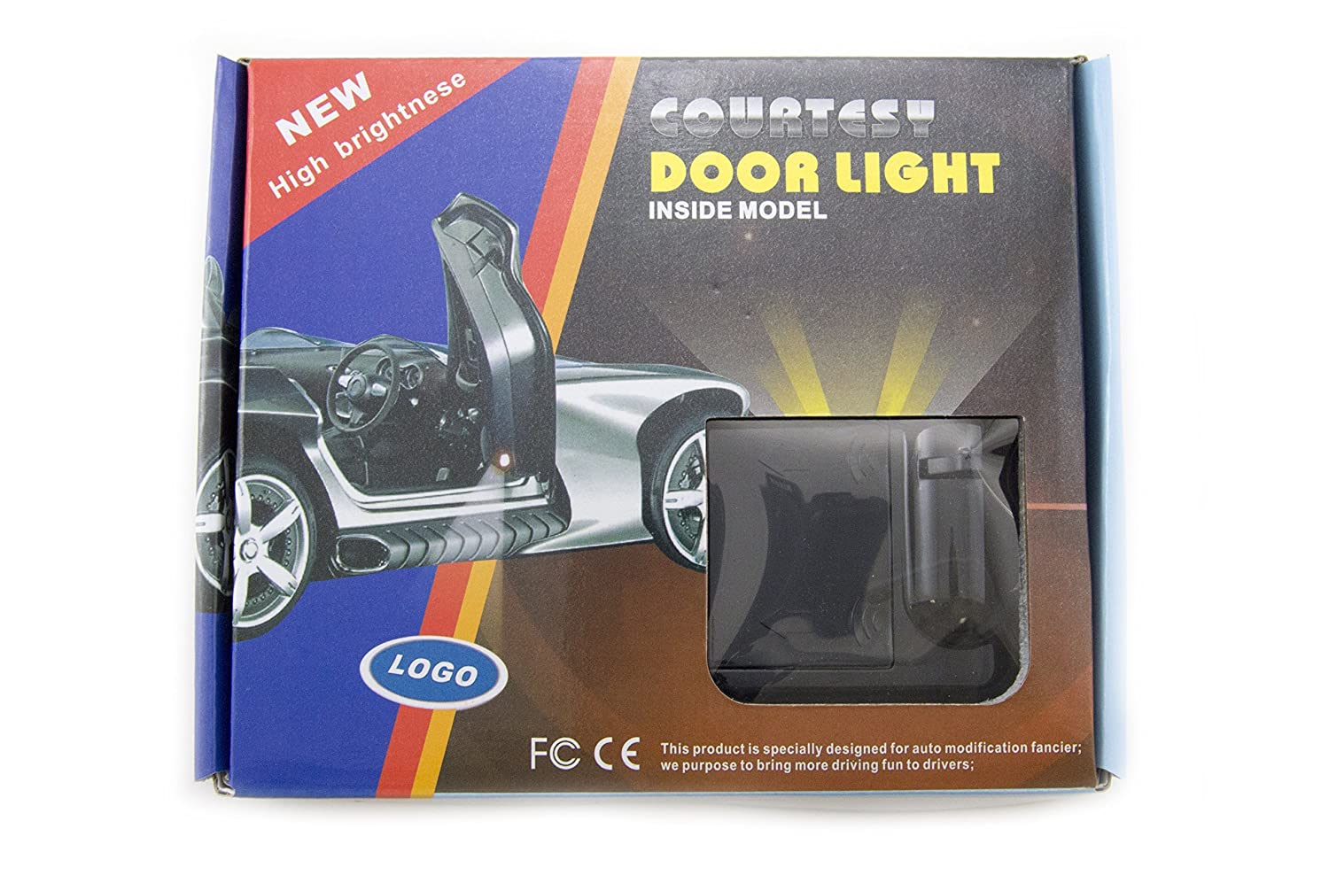2x Night Cold Blue bat batman car door courtesy welcome logo shadow ghost light laser projector Science Purchase Black Wireless Car Door LED Projector Light