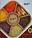 MIR Woven Sq Masala Rangoli Box (Dabba) - 7 Sections, 700ml, Assorted Colour (Multicolour).