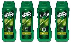 Irish Spring Body Wash, Aloe Vera, 18 fluid ounce (Pack of 4)