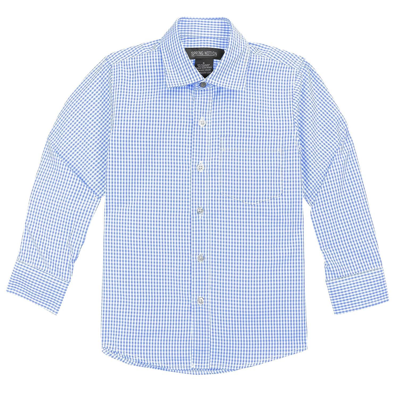 Spring Notion Big Boys' Long Sleeve Gingham Shirt ERF939-SNS-939